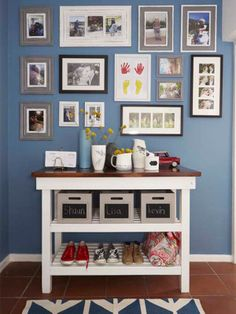 Create a focal point in your entry hall - even if you're renting Entry Hall, Weekend Projects, Gallery Wall, Renting, Decorating, Create, Tips, Home Decor, Entrance Hall