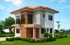 Elisa – Four Bedroom Compact Two Storey House Design | Pinoy ePlans Small House Interior Design, Interior Design Kitchen, Kitchen Designs, Room Interior, Architecture Magazines, Amazing Architecture, Online Architecture, Two Story House Design, Double Storey House