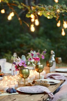 Inspired Gatherings twinkle lights in tree