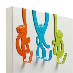 Image for Roomates Over The Door Monkey Hooks - 3 pack from Kmart - Cute kids door hooks