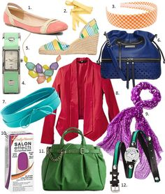 Add color to your wardrobe, cheaply and easily, with accessories!