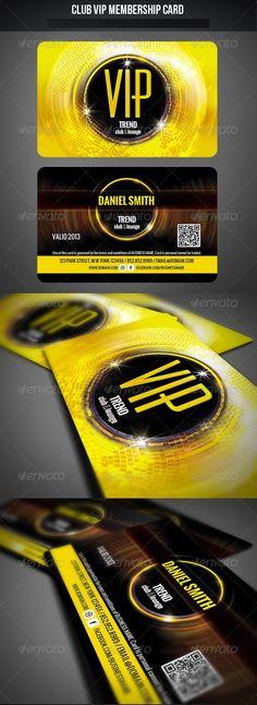 Club VIP Membership Card Club VIP Membership Card Club VIP Membership Card Features and technical specs: Voucher, Logo Desing, Vip Card, Gift Box Design, Ecommerce Logo, Invitation Cards, Invites, Wedding Invitations, Print Templates