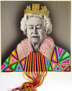 Textile Art 385550418096024251 - Colorfully Embroidered Vintage Photos of Artists and Cultural Icons by Victoria Villasana Source by segeye Yarn Bombing, Portrait Embroidery, Embroidery Art, Art Pop, Vintage Photographs, Vintage Photos, Vintage Ads, Guerilla Knitting, Sculpture Textile