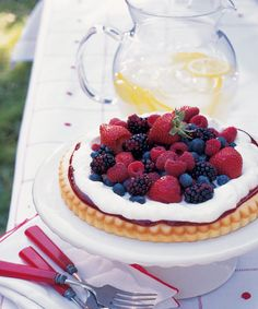 Fresh-picked fruit is showcased in this delicious summer dessert. Get the recipe!  - GoodHousekeeping.com