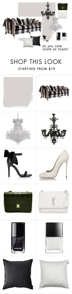 """""""do you love white or black?"""" by home-23b on Polyvore featuring Duresta, Cyan Design, Miss Selfridge, Dsquared2, Chanel, Yves Saint Laurent, Butter London e GANT"""