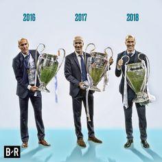 Zidane 2016 2017 2018 Real Madrid