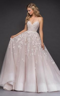 stunning wedding sexy luxury evening appliques Evening stunning sexy Wedding Dress Inspiration - Hayley Paige spaghetti bridal dress - Plus size wedding gowns - Sexy Wedding Dresses, Bridal Dresses, Wedding Gowns, Maxi Dresses, Wedding Ceremony, Hailey Page Wedding Dress, Flowery Wedding Dress, Modest Wedding, Hayley Paige Wedding Dresses