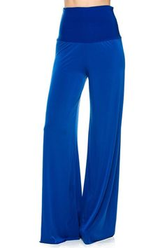 Solid High Waisted Wide Leg Palazzo Pants