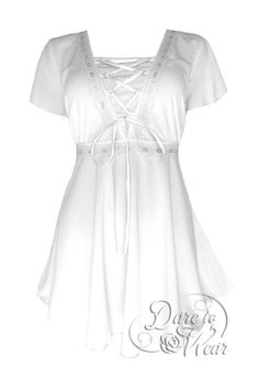 Even without a halo or a harp, you can still be an angel in our Angel top! Styled to make the heavens sing, this is a piece that helps Divas look even more divine! - gorgeous metallic lace and satin r
