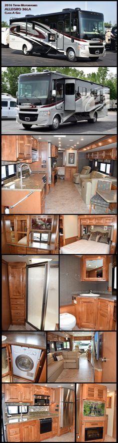 Have fun traveling in this 2016 Tiffin Motorhomes ALLEGRO 36LA Class A Gas Motorhome. The first model Tiffin ever produced, the Allegro is a favorite of first-time RV owners, earning raves for its com