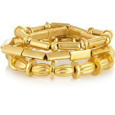 Philippe Audibert Set of three gold-plated bracelets ($70) ❤ liked on Polyvore