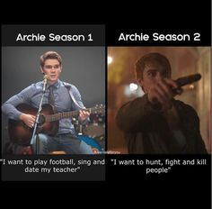 so I'm excited to see how this turns out The post so I'm excited to see how this t& appeared first on Riverdale Memes. Memes Riverdale, Riverdale Season 2, Riverdale Funny, Bughead Riverdale, Riverdale Archie, Netflix, Riverdale Characters, Riverdale Cole Sprouse, Archie Andrews