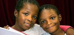 """Two 9-year-old twins in Britain are preparing to find out what high school they'll attend, making them the country's youngest high school students in history. Paula and Peter Imafidon, dubbed """"The Wonder Twins"""", are known for their record breaking wit after becoming the youngest people to ace the University of Cambridge's advanced math test and soaring above their classmates. -"""