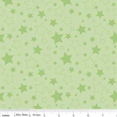 Riley Blake Designs - Stars - Stars in Green