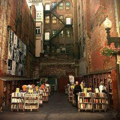 Brattle Book Shop at 9 West Street in Boston, Massachusetts. Beautiful!