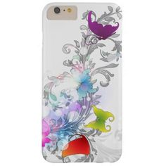 Sparkly Abstract Swirls and Butterflies iPhone 6 Plus Case