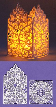 Snowflake Lantern (Lace) | Urban Threads: Unique and Awesome Embroidery Designs... $5 bucks