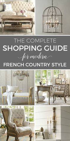 Do you love French Country decor? Here are the 6 defining style elements I use in every room to achieve modern French Country style. Modern French Country, French Farmhouse Decor, French Country Furniture, French Country Kitchens, French Country Bedrooms, French Country Living Room, French Country Cottage, French Country Decorating, Modern French Decor