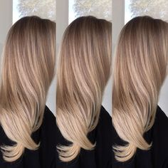 Well-Blended Creamy Toffee-Blonde Balayage for Long Hair