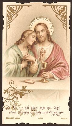Bouasse French Holy Card