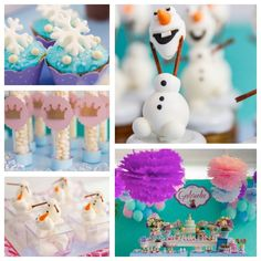 Amazing FROZEN themed birthday party full of ideas! Invitations, cake, cupcakes, favors, decor, supplies and more! Via Kara's Party Ideas KarasPartyIdeas.com #partyideas #frozen #karaspartyideas