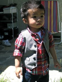 omgeeee asian babies are SO CUTE. no bias intended.this would've my Asian son! Fashion Kids, Little Boy Fashion, Baby Boy Fashion, Toddler Fashion, Cute Toddlers, Cute Kids, Cute Babies, Kid Swag, Baby Swag