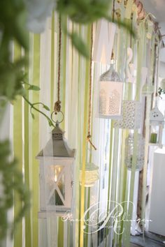 ribbon and lantern backdrop @Glenda Turner party concepts