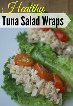 This delicious Healthy Tuna Salad Wraps recipe is a great Weight Watchers Lunch idea with low points! Lean protein and tons of flavor make it a perfect low carb lunch too for those who are trying to avoid carbs!
