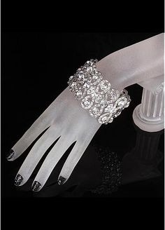 In Stock Elegant Alloy Bracelets With Rhinestones