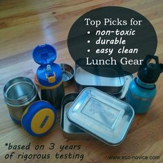 Eco-novice's Top Picks for Reusable Lunch Gear (based on 3 years of rigorous testing) ~ Perfect to use for summer outings too!