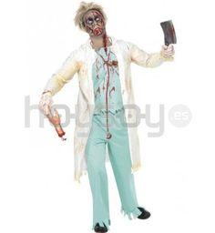 #Disfraz de cirujano #zombie. Este disfraz consta de: chaqueta con top, pantalones y guantes #Halloween #Disfraces #Carnaval