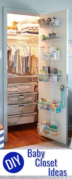 Baby Closet Ideas and Images • Baby Closet Organization DIY Ideas