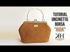 "Tutorial uncinetto pochette/borsa ""Aida"" - Crochet DIY bag ♡ Katy Handmade - YouTube"
