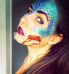 My mermaid Halloween makeup #sexy #siren #mermaid #costume