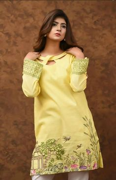 Latest trends in Beauty, Fashion, Indian outfit ideas, Wedding style on your mind? Neck Designs For Suits, Sleeves Designs For Dresses, Neckline Designs, Dress Neck Designs, Stylish Dresses For Girls, Stylish Dress Designs, Stylish Dress Book, Pakistani Dresses Casual, Pakistani Dress Design
