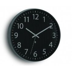 Our Umbra Perftime Wall Clock's steel mesh surface adds unexpected texture to its minimal design. It's clean lines complement a modern kitchen or office. Black Wall Shelves, Time Zone Clocks, Traditional Wall Clocks, Wall Mounted Desk, Black Clocks, Wall Clock Design, Clock Movements, Steel Mesh, Dot And Bo