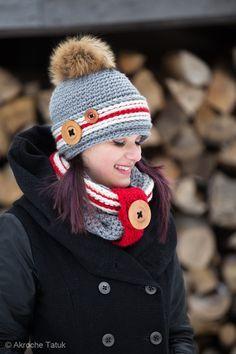 Patron au crochet en français ensemble Alaska. Tuque bas de laine. Yarn sock crochet hat pattern