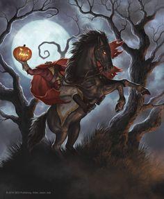Legend of Sleepy Hollow by jasonjuta on DeviantArt Halloween Horror, Halloween Art, Horror Pictures, Horror Pics, Sleepy Hollow Halloween, Horror Movie Posters, Horror Movies, Legend Of Sleepy Hollow, Headless Horseman