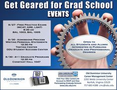 Thinking about graduate school? Attend our grad school events and learn about applying, testing and programs. Not sure how you'll do with the entrance exam? See how you measure up. Take a free practice GRE, MCAT or LSAT and get feedback and tips on how you can improve. #oducmc