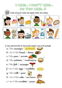 1st Grade Worksheets, Worksheets For Kids, Reading Comprehension For Kids, English Activities For Kids, Likes And Dislikes, English Reading, Language Lessons, School Subjects, Kindergarten Reading