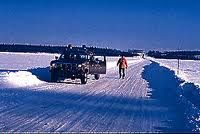 Fort McMurray winter roads, nothing keeps Canadians at home.  It snows they still go.