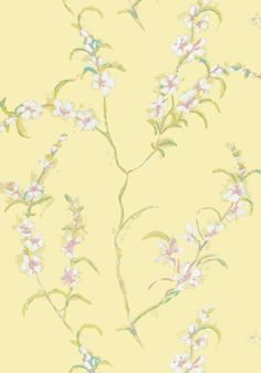 Pretty Anna French wallpaper suitable for use in a Regency Style bedroom
