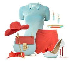 """""""Bicolor bag contest"""" by leeann829 ❤ liked on Polyvore featuring STELLA McCARTNEY, Chloé, Christian Louboutin, Tory Burch, Monsoon and Alexis Bittar"""