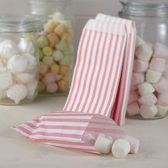 Treat bag - godispåse #rosa #ränder #stripes #treatbag #godispåse #calligraphen