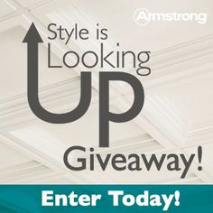 From February 4th through March 15th, enter for a chance to win a $2,500 room makeover grand prize (including an Armstrong ceiling, installation credit, and a $1,000 Lowe's gift card