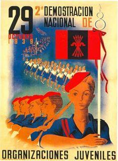 Spain - 1939. - GG - poster - Cartel de las Organizaciones Juveniles de Falange. Fascism.