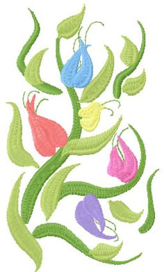 Flower decoration free embroidery 31 - Flowers free machine embroidery designs - Machine embroidery community