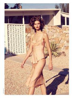 Mellow Monochromatic Model Captures : Julia Stegner for Vogue Germany