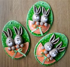 Clay Art Projects, Polymer Clay Projects, Diy Craft Projects, Diy And Crafts, Crafts For Kids, Preschool Crafts, Easter Crafts, Salt Dough Crafts, Kids Clay
