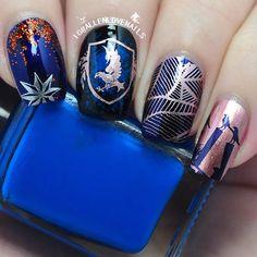 harry potter nail---ravenclaw#harrypotternail#